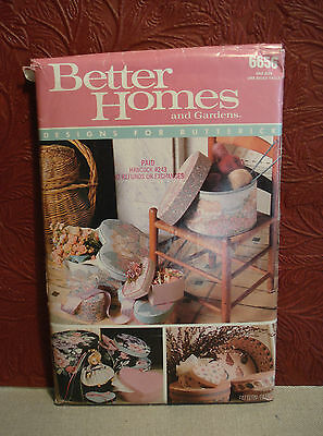 Vintage Better Homes & Gardens Butterick 6656 Boxes Craft Pattern UNCUT Complete