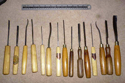 Vintage Selection 15 Quality Wood Carving Tools by DASTRA, ADDIS, HOWARTH et al