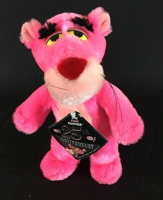 VTG Pink Panther Plush Window Stuffed Animal w Suction Cups 25th Anniversary