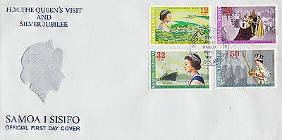 Samoa 1977 Silver Jubilee Official Oversized First Day Cover Fdi Cancel