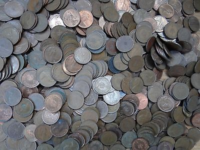 X740 PLUS DECIMAL OLD 1/2p HALF PENNY QUEEN ELIZ 11 1971-1984 BIG LOT BULK BUY
