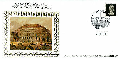 26 SEPTEMBER 1989 20p DEFINITIVE VALUE BENHAM D 115 FDC LONDON SW1 SHS