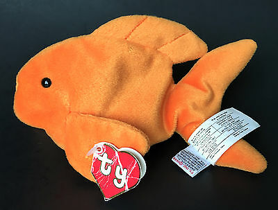 Ty 1994 Beanie Baby Goldie Goldfish 2nd Gen Hang Tag Embroidered Canadian Tush