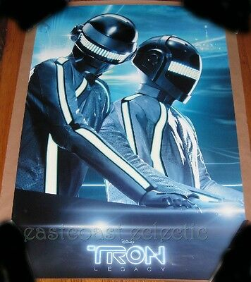 """DAFT PUNK Tron: Legacy Glow in Dark Limited Official Poster 27 x 39"""" NEW"""