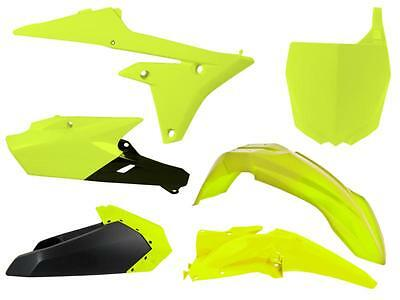 New YZF 250 450 14-17 Racetech Plastic Kit Motocross Plastics Neon Yellow
