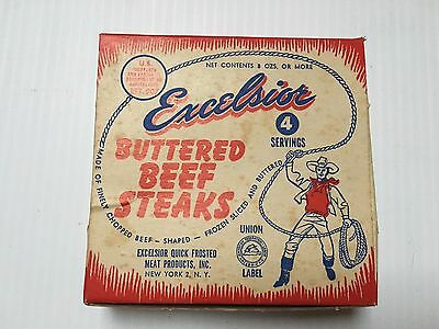 Vintage Excelsior Buttered Beef Steaks Box