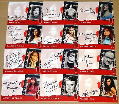 Hammer Horror Series 2 - Complete 13-Card Autograph Set - Strictly Ink 2010