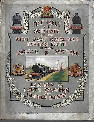 LNWR Time Table and Souvenir
