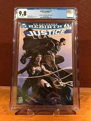 Justice League #1 Sketch Variant w/ Dell'Otto Cover art 1/1500 CGC 9.8
