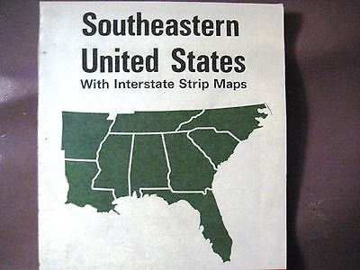 VTG 1974 STANDARD (AMOCO) OIL CO Road Map of Southeastern United States