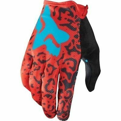 Fox Head Demo Full Finger Mountain Bike Cycling Gloves Red Size Large New