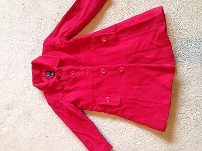 Red Wool Smart Coat Aged 3 Yrs Baby GAP