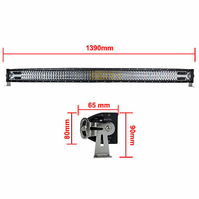 52 INCH 783W CURVED COMBO BEAM LED LIGHT BAR Offroad 4×4 Truck SUV 4WD