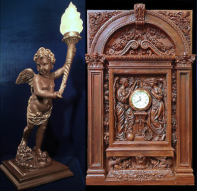 RMS TITANIC Grand Staircase Clock and Cherub Lamp combination offer