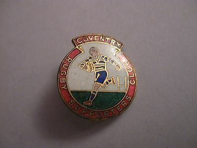 Rare Old Coventry Rugby Football Club (Cs) Enamel Brooch Pin Badge