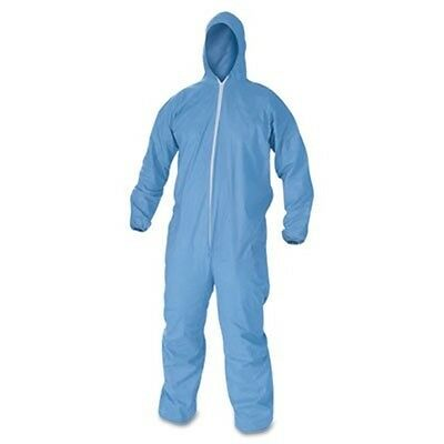 KleenGuard* A60 Elastic-Cuff & Back Hooded Coveralls, Blue, 2XL