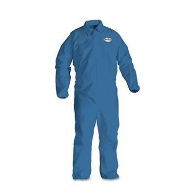 KleenGuard* A60 Elastic-Cuff & Back Coveralls, Blue, Large