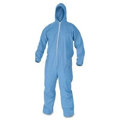 KleenGuard* A60 Elastic-Cuff & Back Hooded Coveralls, Blue, L