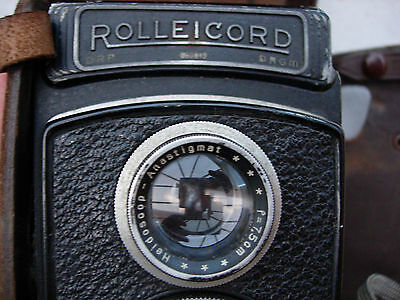 Rolleicord TLR camera: Triotar 1:4.5 f=7,5 lens : an early model