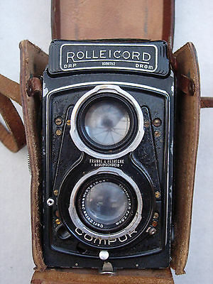 Rolleicord TLR Camera : Triotar 1:3.5 f=7.5 taking lens: an early model