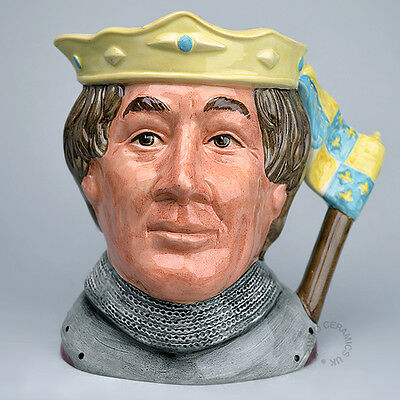 Royal Doulton Yellow Henry V Large Character Jug D6671