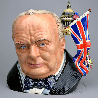 Royal Doulton Large Character Jug Winston Churchill D7298