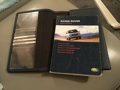 Land Rover Range Rover Owners Handbook Manual And Case