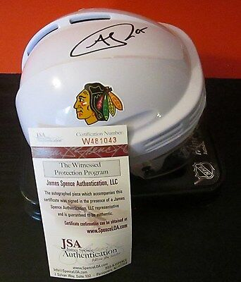 Autograph Andrew Shaw #65 Chicago Blackhawks Signed Mini Helmet White COA