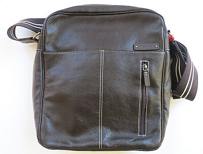 "STORKSAK Leather Diaper Bag ""JAMIE"" New With Tags NWT Espresso"