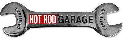 Hot Rod Garage Wrench Metal Sign