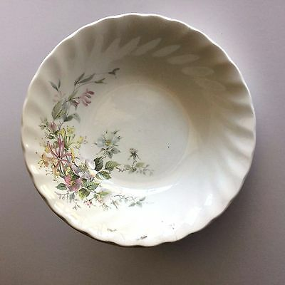 Myott Meakin Staffordshire 1982 Pink Yellow Green Leaves Cereal Bowl Sweet!