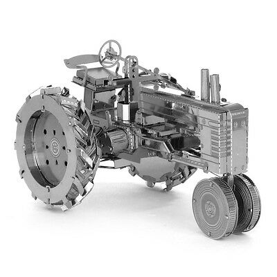 3D Stainless Steel Metallic Laser Building Tractor Model Puzzle Educational Toy