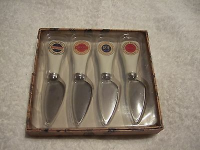 Gourmet Quality Set of 4 Cheese Knives Stainless Steel