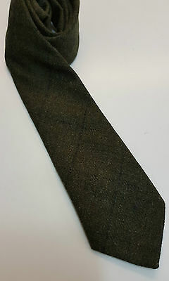 Loden Green Tweed Tie 100% Pure Wool 4 Dressed Shirt Kilts Sporran