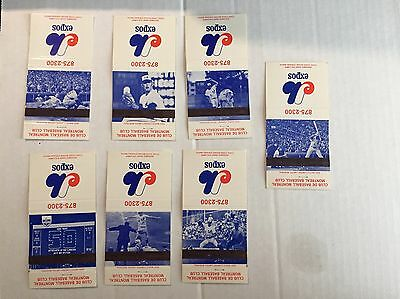 1972 Montreal Expos Mlb Baseball Matchbook Schedule Complete Set Of 7