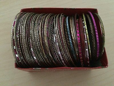 Over 50 assorted Indian bangles