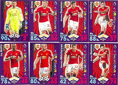 2016/2017 Topps Match Attax team set MANCHESTER UNITED