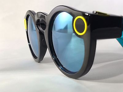 NEW LIMITED EDITION - CUSTOM Black and Teal Snapchat Spectacles