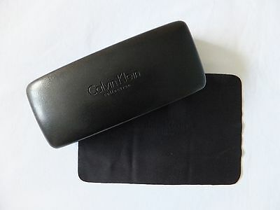 Calvin Klein leather spectacles case with CK branded cleaning cloth - BNWOT.