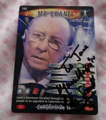 Doctor Who Battles In Time Mr Crane card signed by Colin Spaull