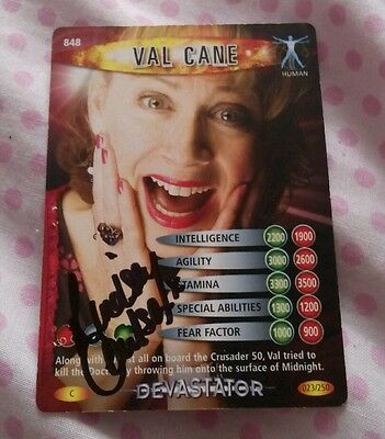 Doctor Who Battles In Time Val Cane card signed by Lindsey Coulson