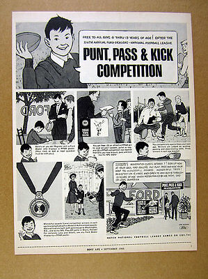 1966 Ford Dealers Punt Pass & Kick Competition football vintage print Ad
