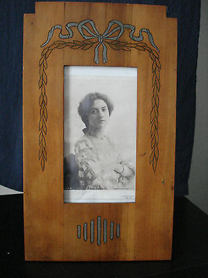 Lovely Large Secessionist,art Nouveau Jugendstil  Rare Original Wood Photo Frame