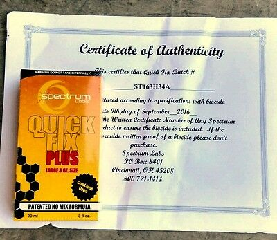 QuicK Fix Plus synthetic urine (Spectrum Labs) - FREE SHIPPING!