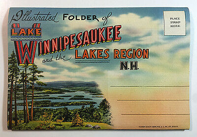 Illustrated Folder of Lake Winnipesaukee and the Lakes Region N.H., Tichnor Bros