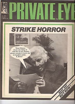 Private Eye Mag # 293 9 March 1973 Gas & NHS Strike Cover Incredible String Band