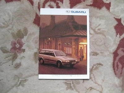 Subaru Full Range Brochure Legacy 1988 Sales Brochure 24 Sided Brochure Rare