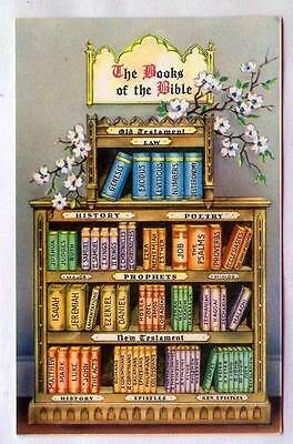 The Books Of The Bible Old Testament & New Testament *POSTCARD?*