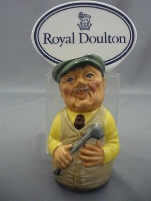 """THE GOLFER"" Major Green Royal Doulton Doultonville Character Toby Jug D6740"