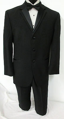 High Quality Black Tuxedo Jacket with Optional Pants Wedding Prom Mason Cruise